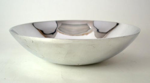 "Aluminum Large Round Salad/Display Bowl- 15"" D."