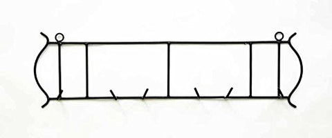 Horizontal Triple Wall Plate Holder, 31 Inches Wide x 8.5 Inches High, Bronze Color