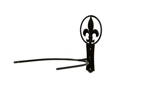 "Iron Cowboy Hat Holder with Fleur de Lis Symbol-9""H x 10""D x 8.5""W"