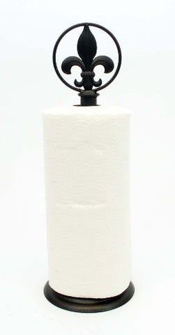 Fleur De Lis Paper Towel Holder- 17 Inches High