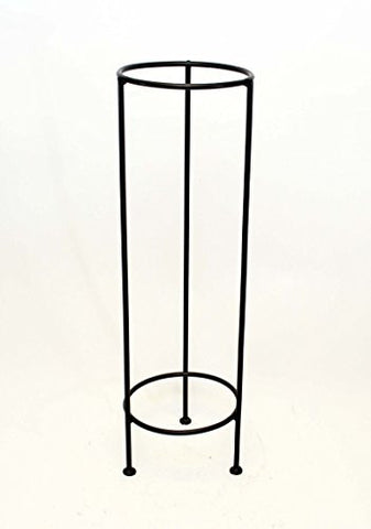 "Handmade Iron Floor Stand, Bronze Color- 27""H x 8 5/8""W."