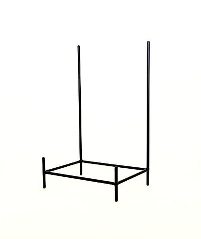 Handmade Wrought Iron Rectangular Bowl Stand, Bronze Color-19.5 Inches High x 11.75 Inches Wide x 8 Inches in Deep