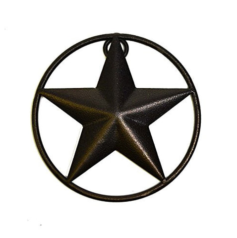 SMALL IRON STAR WITH RING, 5 INCHES IN DIAMETER.