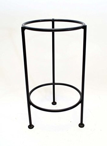 "Handmade Iron Floor Stand, Bronze Color-15""H x 8 5/8""W."