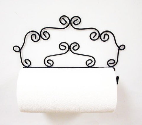 Decorative Wall Paper Towel Holder- 8 Inches High x 14 Inches Wide