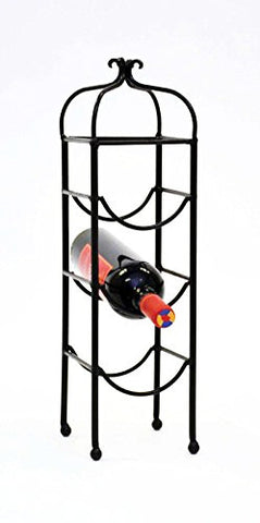 Classic Triple Bottle Wine Rack-20 Inches High x 5.5 Inches Wide x 6 Inches Deep.