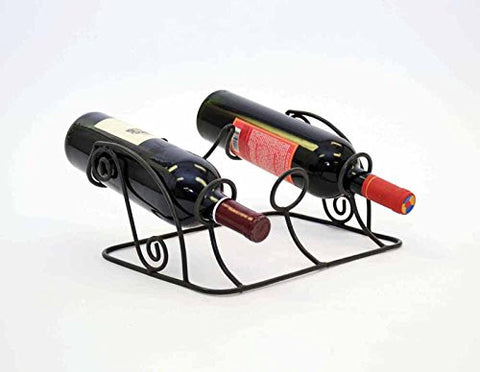 Triple Wine Bottle Holder-12 Inches Wide x 9 Inches in Diameter x 5.25 Inches High, Painted Bronze