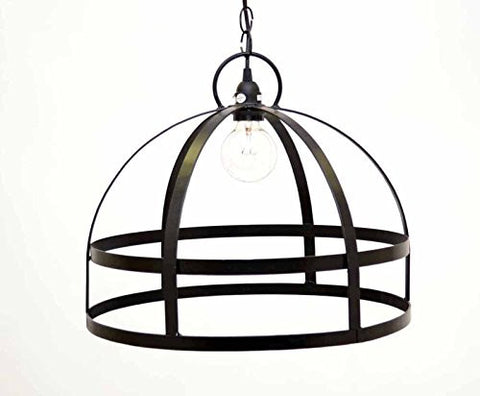 Urn Shaped Hanging Lamp, with Socket Set and 3 Feet of Chain,12 Inches High x 17.5 Inches Diameter