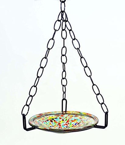 Small Hanging Bird Feeder with Confetti Bowl-16 Inches High x 8-10 Inches Wide
