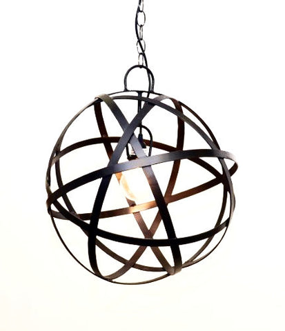 Sphere Hanging Lamp w/ Socket Set-18 Inches Diameter