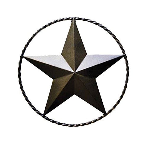 "Iron Star with Ring for Wall-18""D."