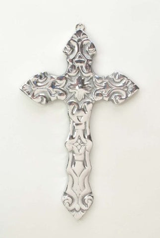 "Polished Aluminum Arrow Wall Cross- 9.5""H."