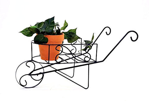 Handmade Iron Planter Cart, Bronze Color-28 Inches Long x 12 Inches Wide