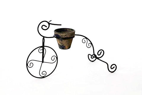 Handmade Iron Tricycle Planter, Bronze Color-12 Inches High x 20 Inches Long