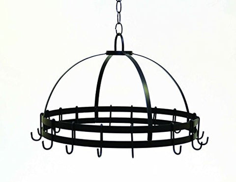 Round Hanging Pot Rack- 18 Inches Wide x 11.5 Inches High