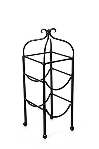 Classic Double Bottle Wine Rack-16 Inches High x 5.5 Inches Wide x 6 Inches in Diameter