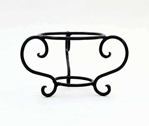 Handmade Iron Triple S Stand Base, Bronze Color- 4.75 Inches High x 8 Inches Wide