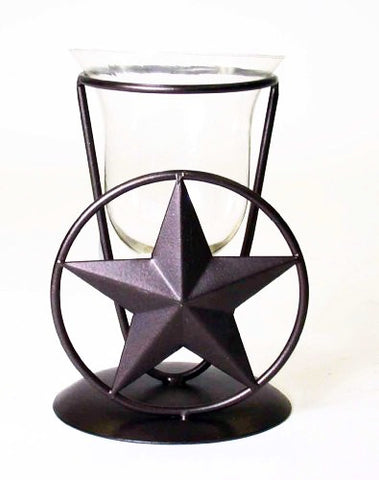 Star Votive Holder With Glass Insert-6 Inches High