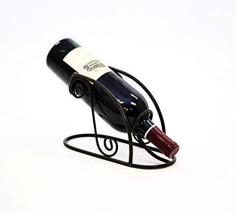 Single Wine Bottle Holder- 9.25 Inches Long x 4 Inches Wide, Painted Bronze Color and Handmade