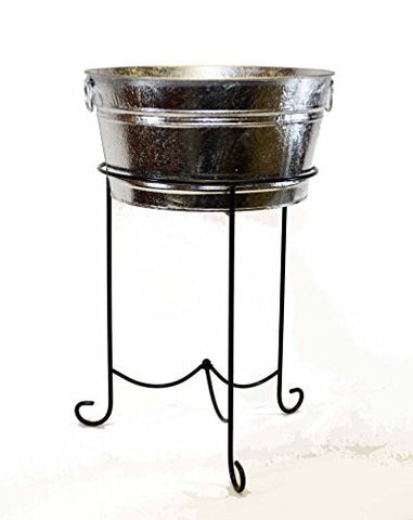 Round Beverage Tub and Stand-18.5 Inches Wide x 29 Inches High