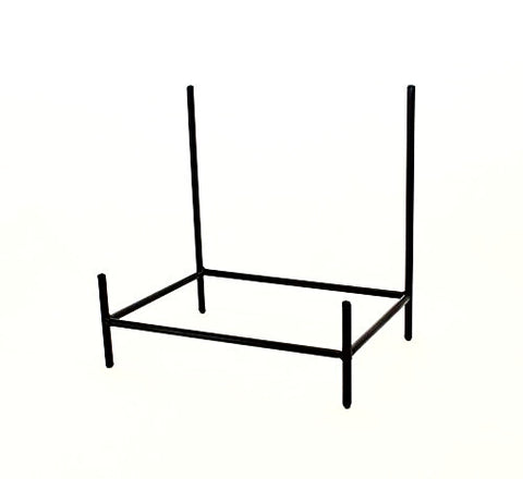 "Wrought Iron Rectangular Bowl Stand-12""H x 11.75""W x 8""D."