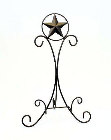 Iron Cookbook/Picture Frame Display Easel, Star Design-20.25 Inches High