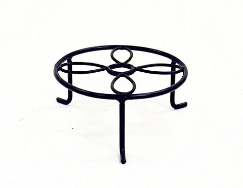 Decorative Iron Plant Riser-3.25 Inches High x 6.5 Inches in Diameter.