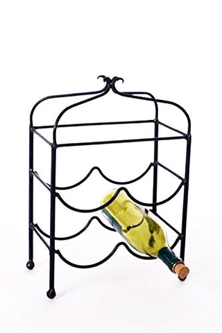 Classic Four Bottle Wine Rack-16 Inches High x 10.5 Inches Wide x 6 Inches in Diameter