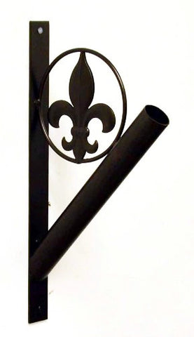 "Iron Fleur De Lis Flag Pole Holder-13""H."