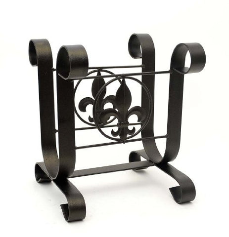 Fleur De Lis Magazine Rack-12 Inches High