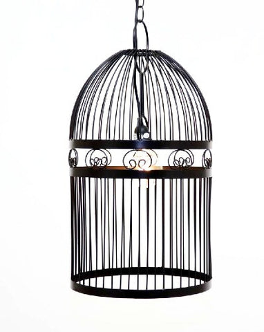 Bird Cage Hanging Lamp/Chandelier w/ Socket set- 24 Inches High x 12 Inches in Diameter