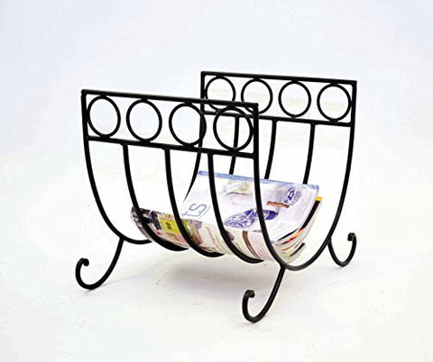 Wrought Iron Log Rack or Magazine Rack- 15 Inches High x 16 Inches Long x 14 Inches Wide.