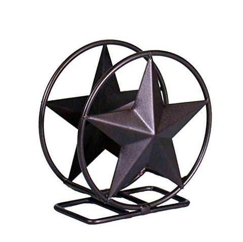 Iron Coaster Holder Star Symbol-5.5 Inches High x 5 Inches in Diameter
