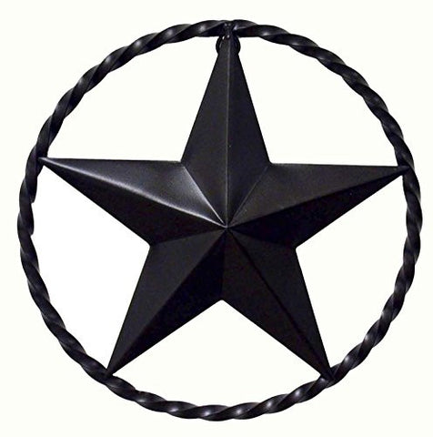 Wrought Iron Star with Ring- 12 Inches in Diameter