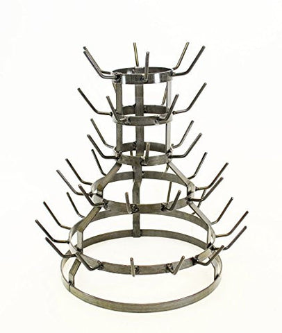 Small Wine Bottle Drying Rack, Holds 44 Bottles- 18.5 Inches High x 17 Inches Wide