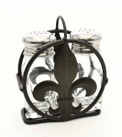 Fleur De Lis Salt And Pepper Shaker Set.