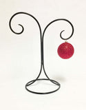 Laredo Wrought Iron Ornament Stand, Double Hook-12 Inches Tall