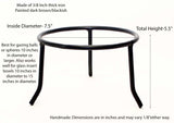 Wrought Iron Tripod Base-5.5 Inches High x 7.5 Inches Diameter