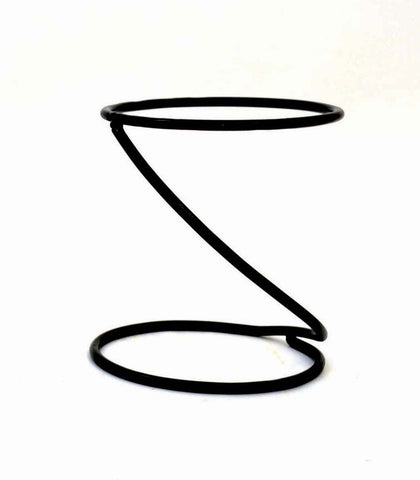 Wrought Iron Spiral Stand-9 Inches Tall, Inside Diameter of the ring is 7.5 Inches, Dark Bronze Color