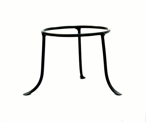 Iron Tripod Base-5 Inches High by 5 Inch Ring Diameter.  1/4 inch thick iron.