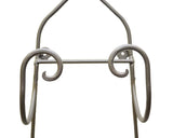 Wrought Iron Wall Towel/Wine Bottle Holder-28.5 Inches Tall x 8.5 Inches Wide