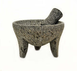 Laredo Mortar and Pestle Molcajete-7.5 Inches in Diameter x 5 Inches High