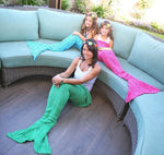 Fun Knitted Mermaid Tail Blanket - New Found Deals
