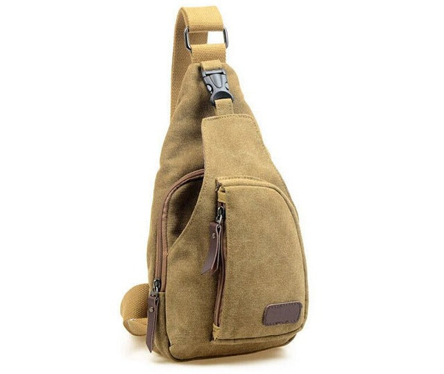 Vogue Star Men's Canvas Shoulder Bag - New Found Deals