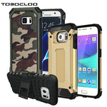 Kickstand Armor Slim Armor Hard Rugged Rubber Case Cover with Kickstand For Samsung Galaxy S6 S7 edge S8 PLUS - New Found Deals