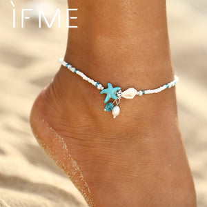Shell and Starfish Charms Anklets - New Found Deals