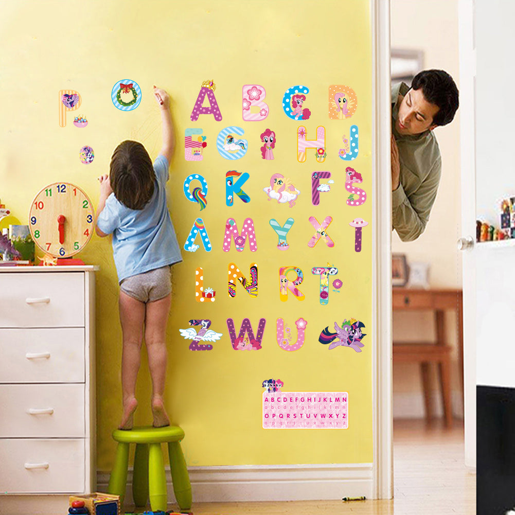 My Little Horse Alphabet Wall Stickers - New Found Deals