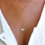 Travel Trends Airplane Necklace - New Found Deals