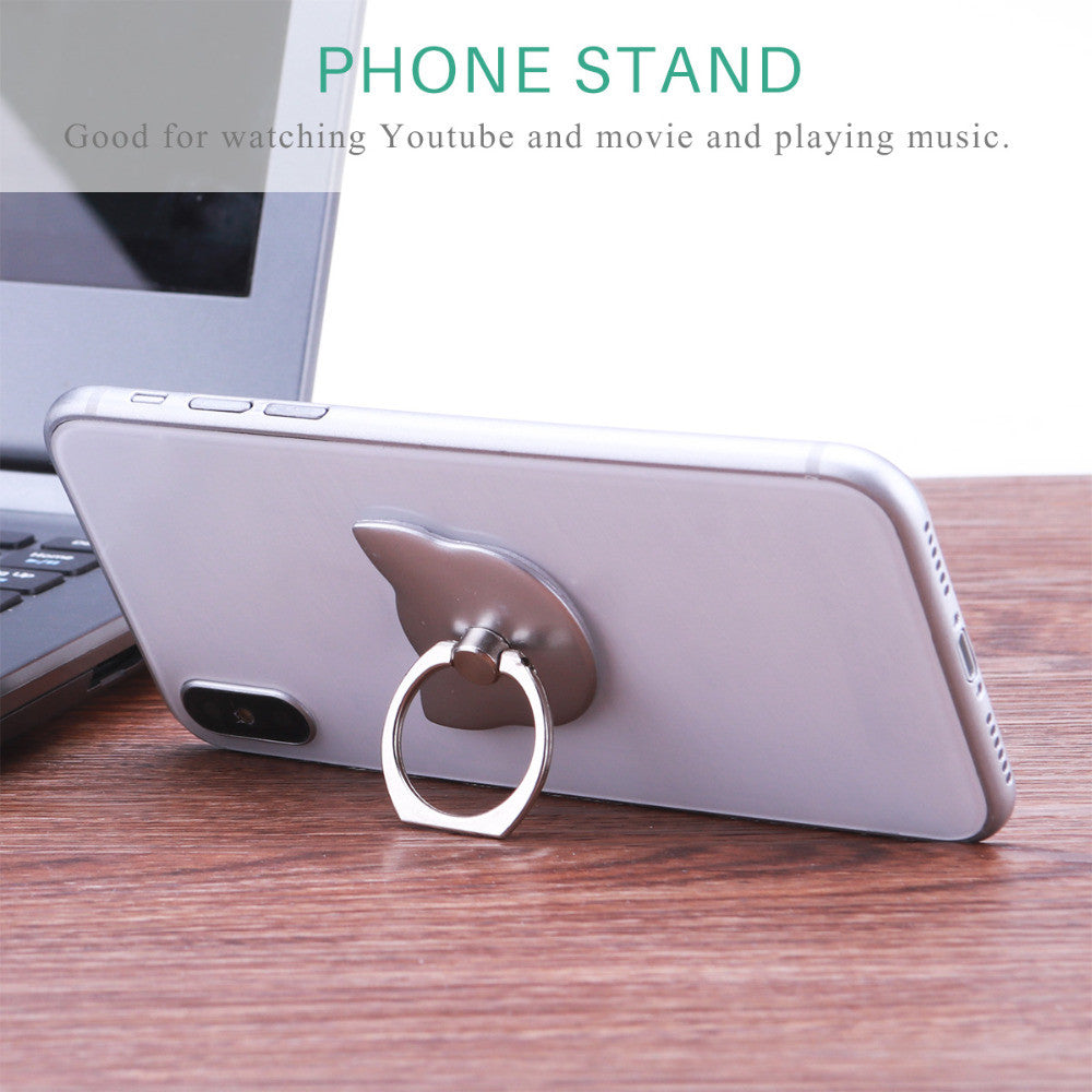 180 Degree Cat Ring Mobile Stand Holder For all Smart Phones - New Found Deals