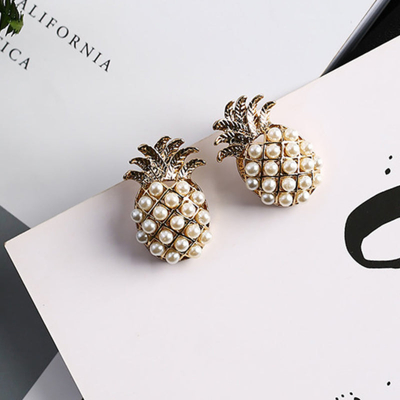 Cute 3D Fruit Stud Earrings - New Found Deals